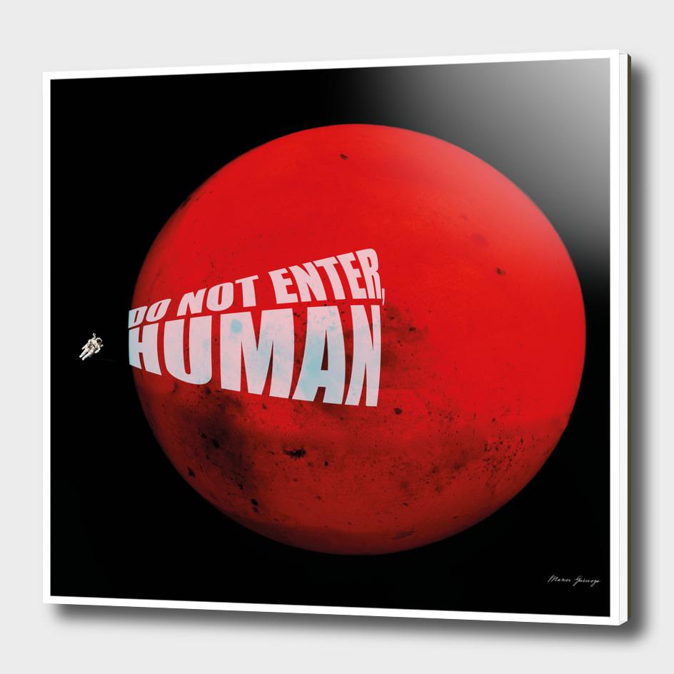 do not enter, human