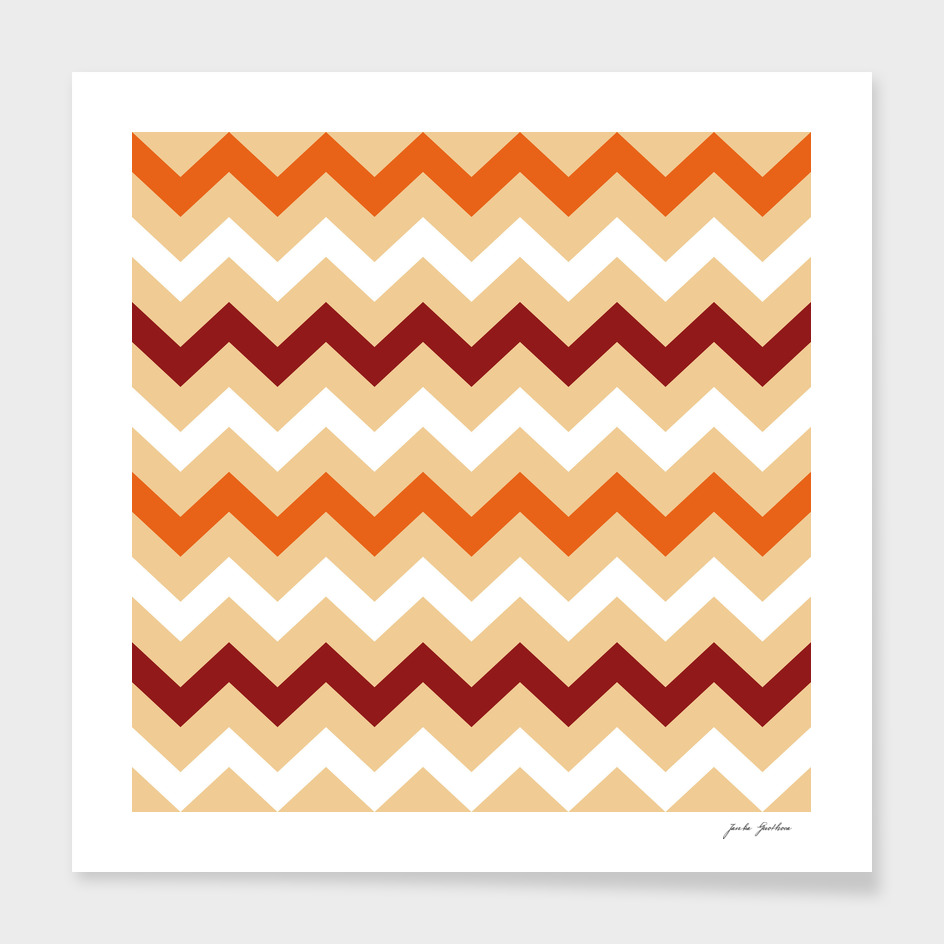 New zig-zag stylish pattern / brown