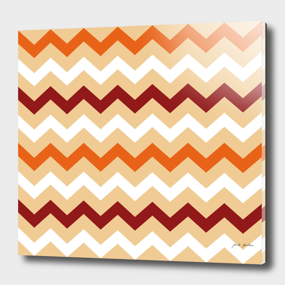 New zig-zag stylish pattern / brown