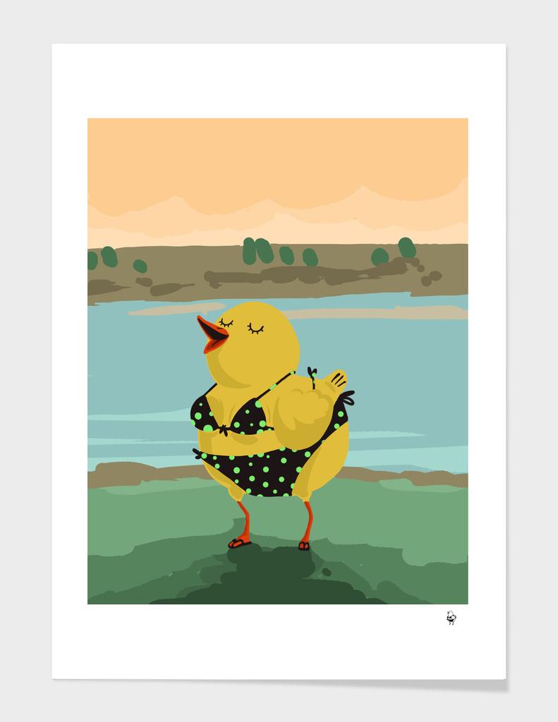 Little duck ready to swim