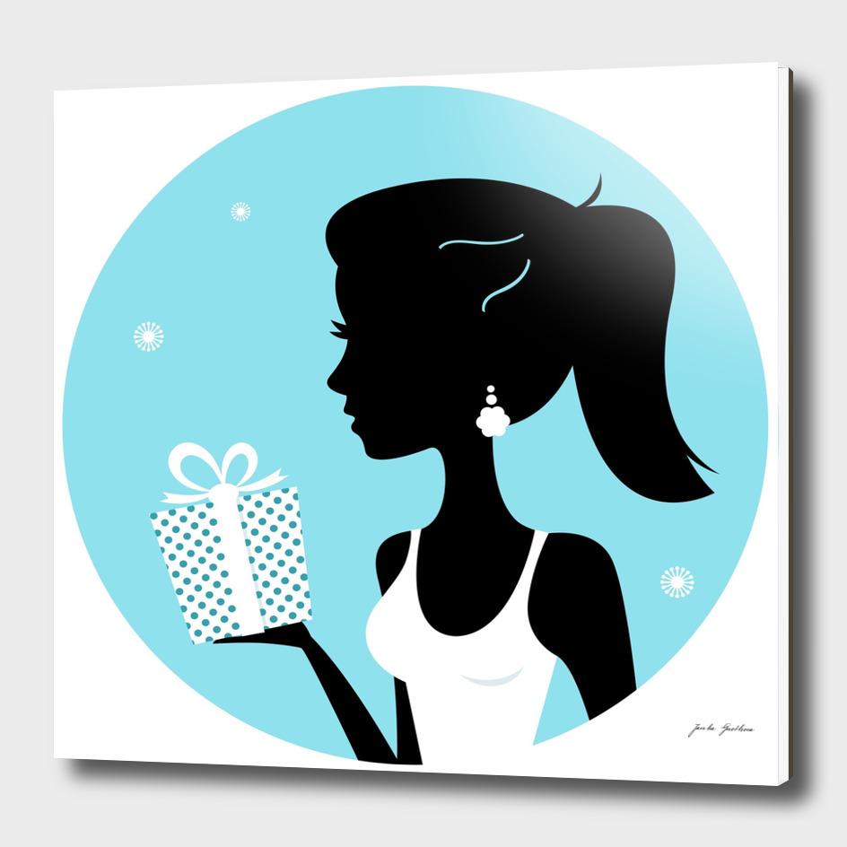 Hand drawn cute stylish Girl / iconography