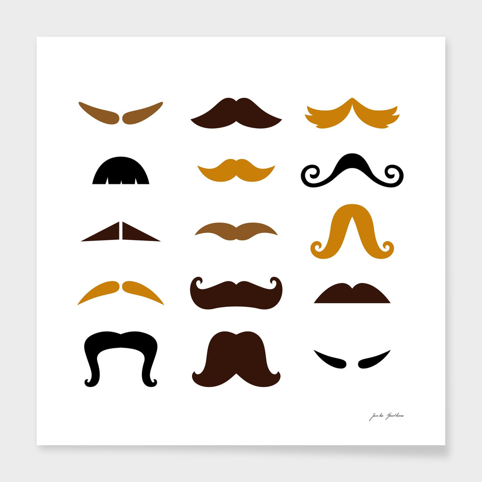 Vintage mustaches in Shop