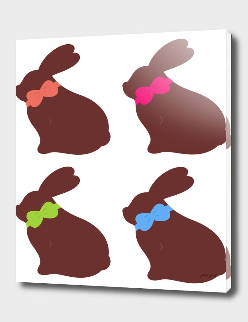 "Cute ""chocolate"" bunnies : New in shop"