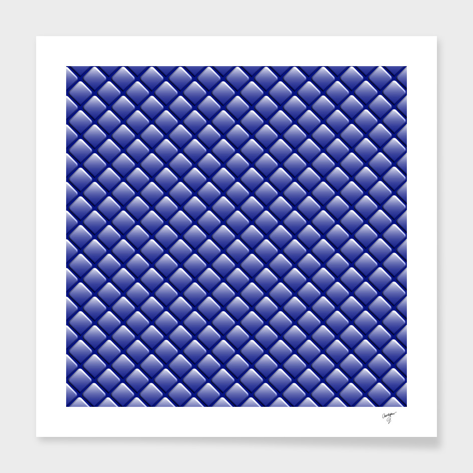 Ultramarine Geometric Rhomboid Pattern