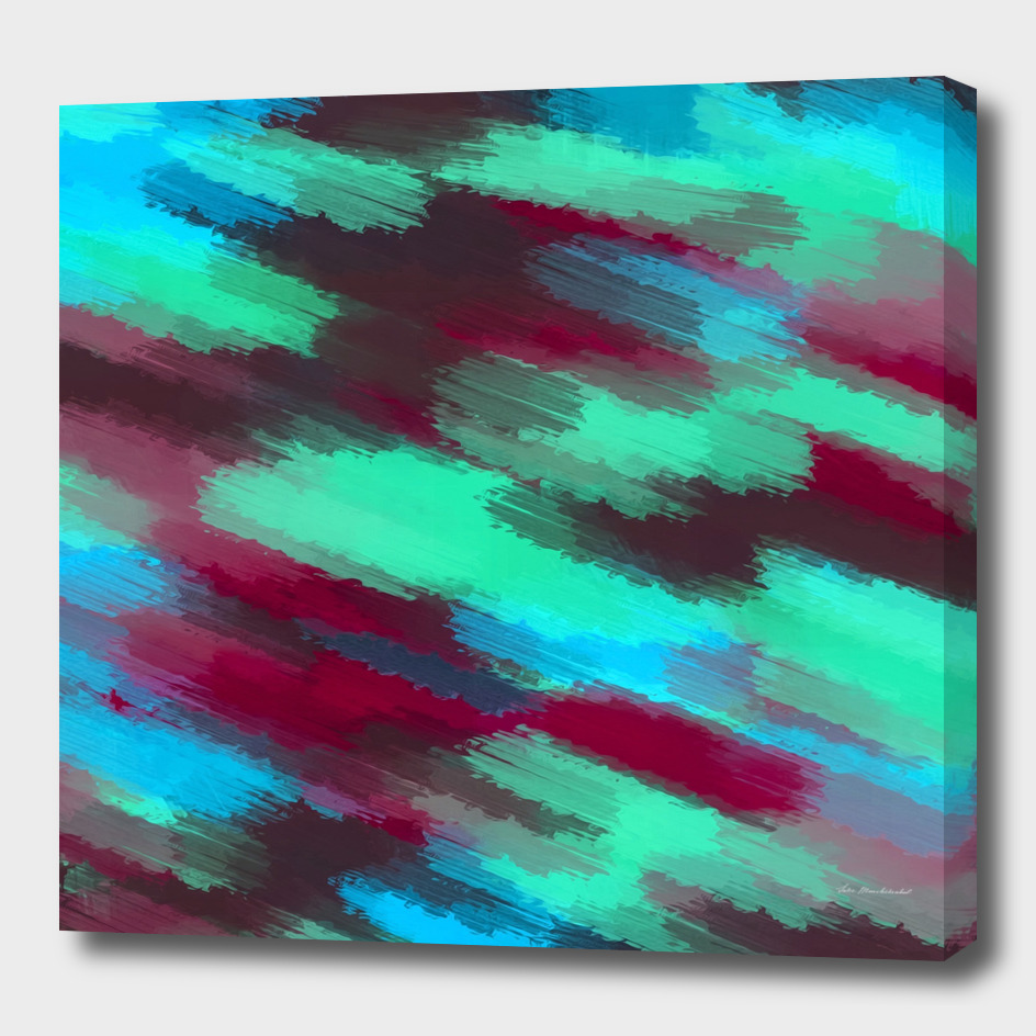 green blue red and brown painting texture abstract