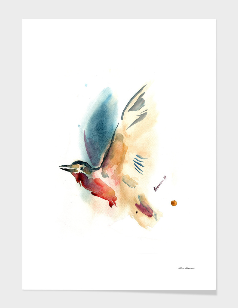 Watercolor Bird Painting