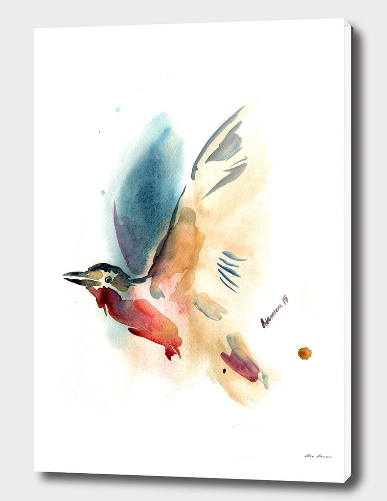 Watercolor Bird Painting