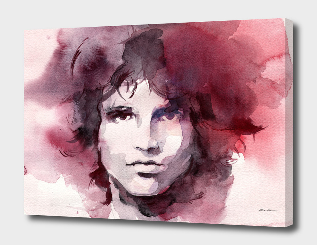 Jim Morrison Watercolor Painting