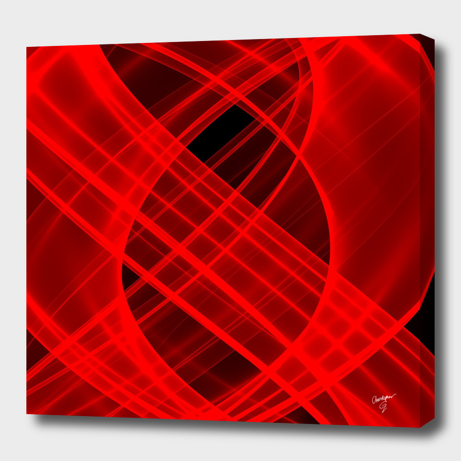 Lightness Entangled (Red/Black)