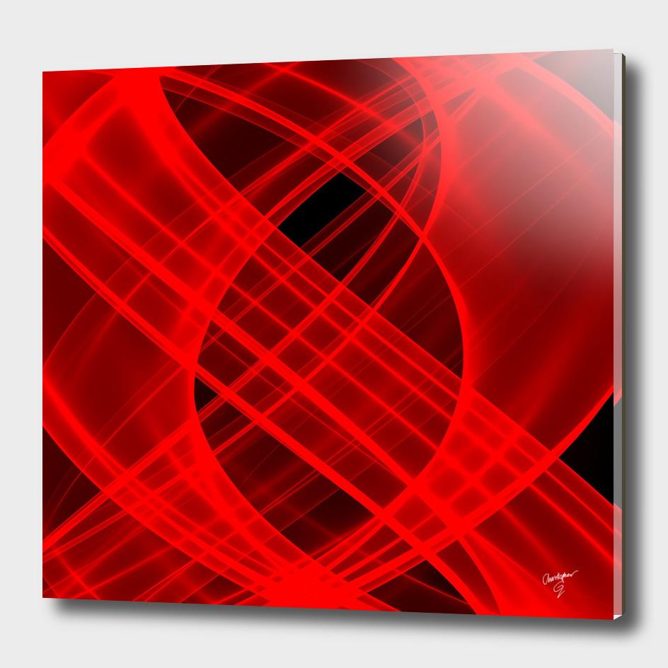 Lightness Entangled (Red/Black)
