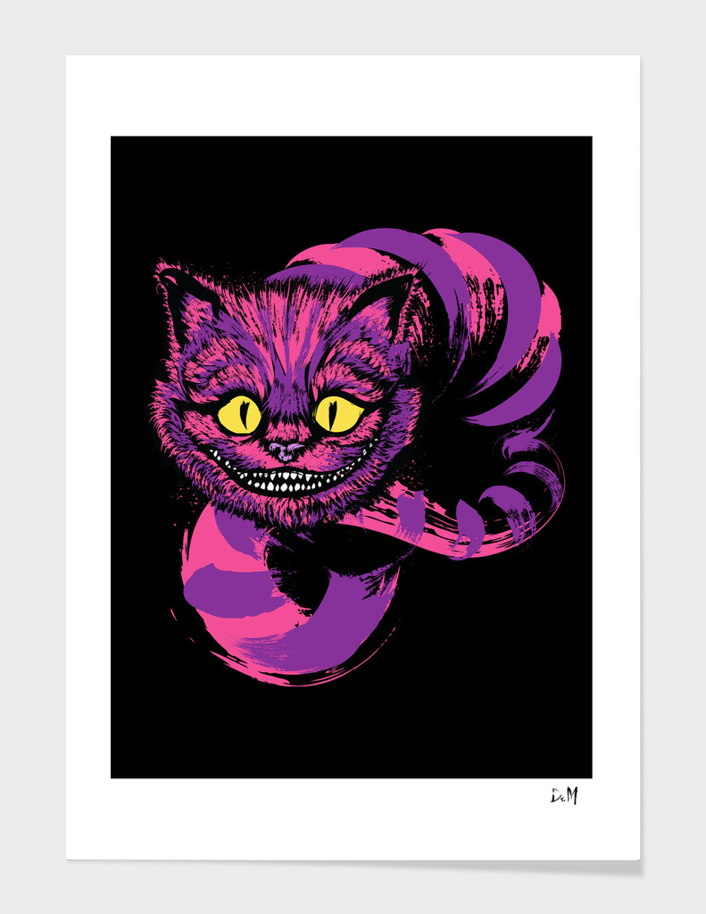 Grinning like a cheshire cat (purple)