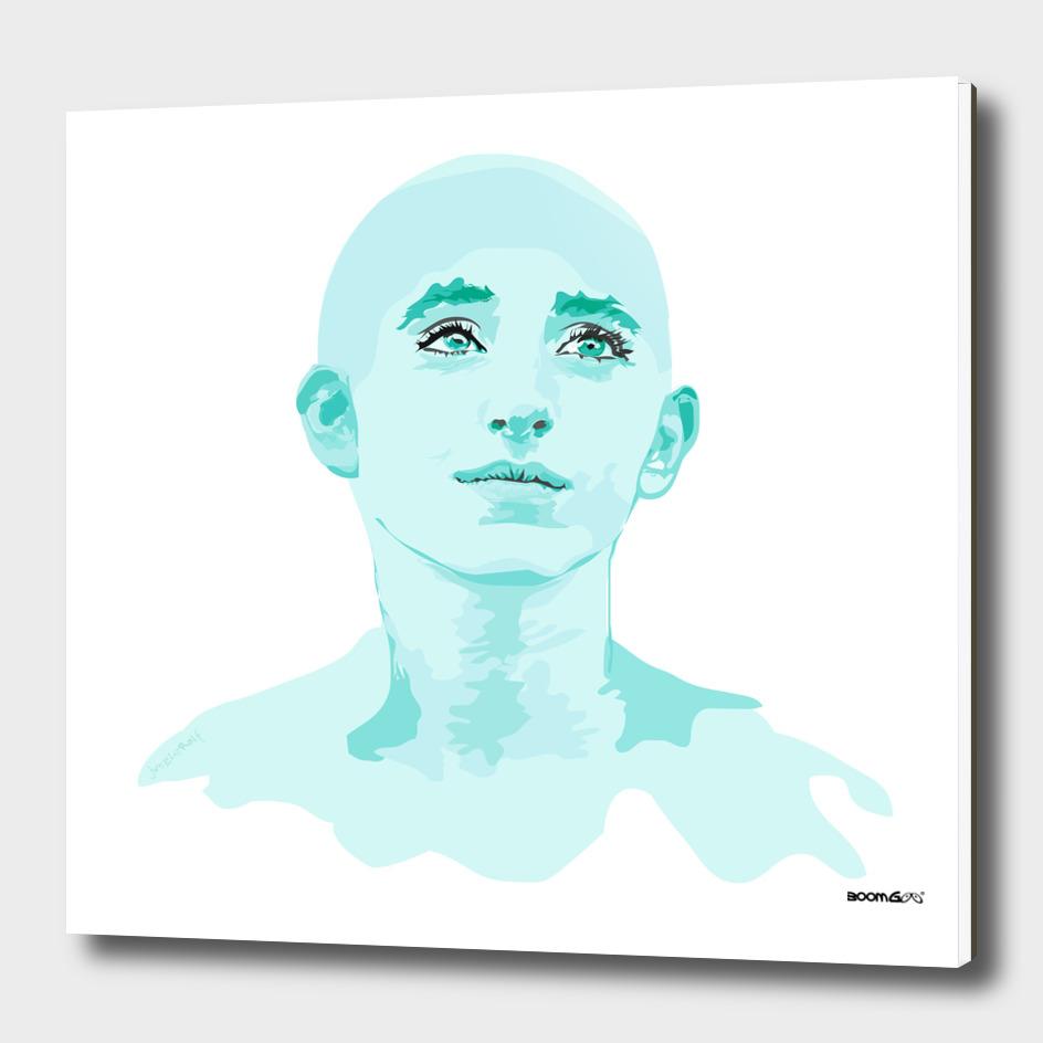 """Portrait """"Daniella"""" 4 (aqua)"""