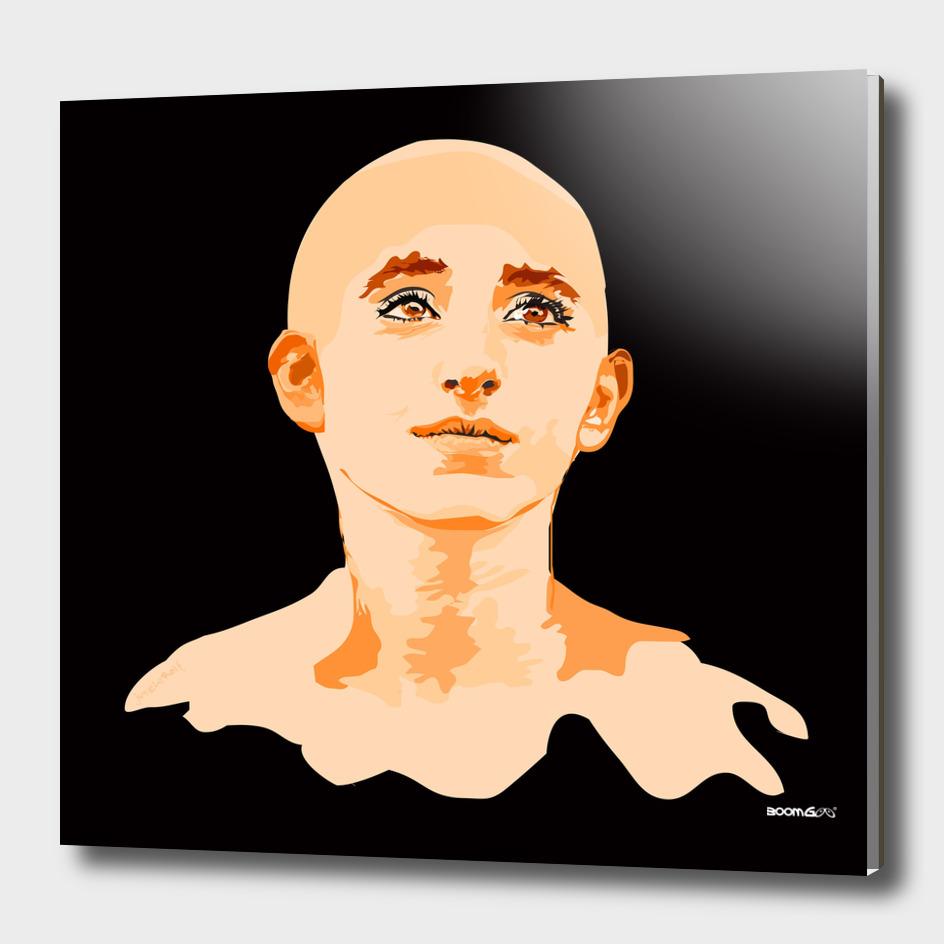 "Portrait ""Daniella"" 4 (mandarine)"