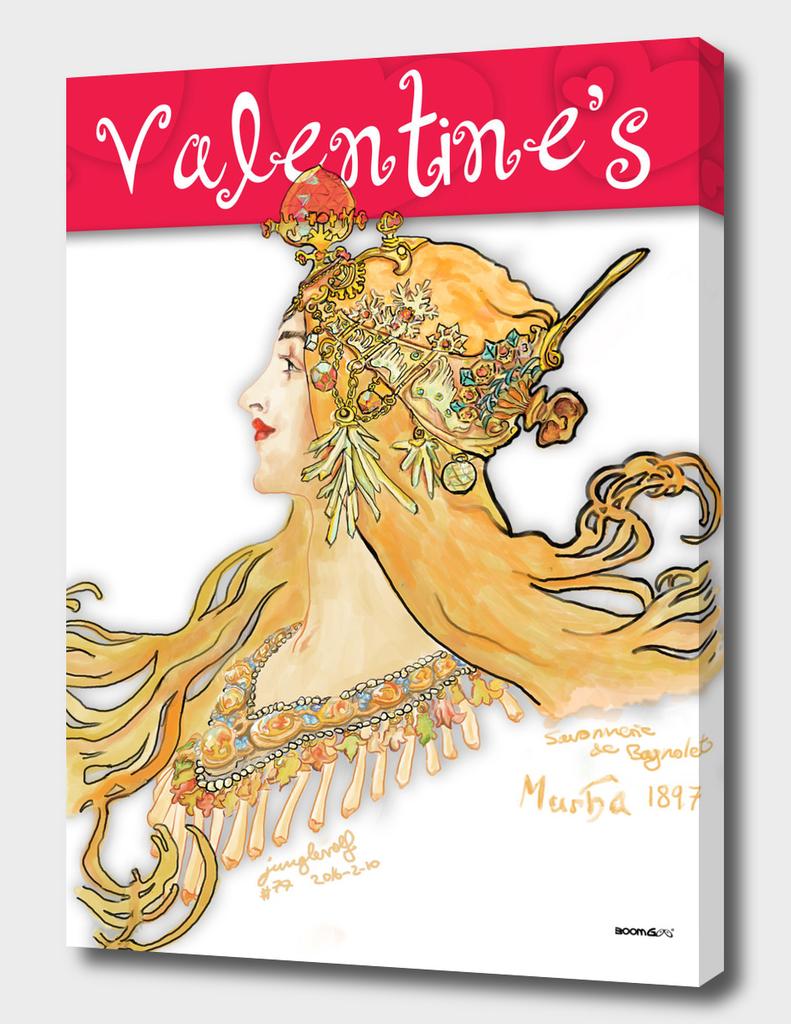 Mucha 1897 style savonnerie (postcard 1)