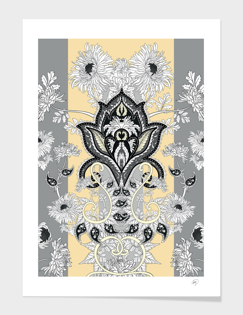 Paisley flower art print
