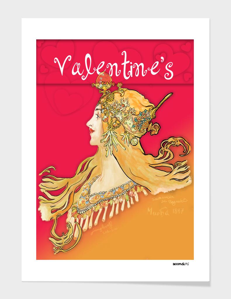 Mucha 1897 style savonnerie (postcard 8)