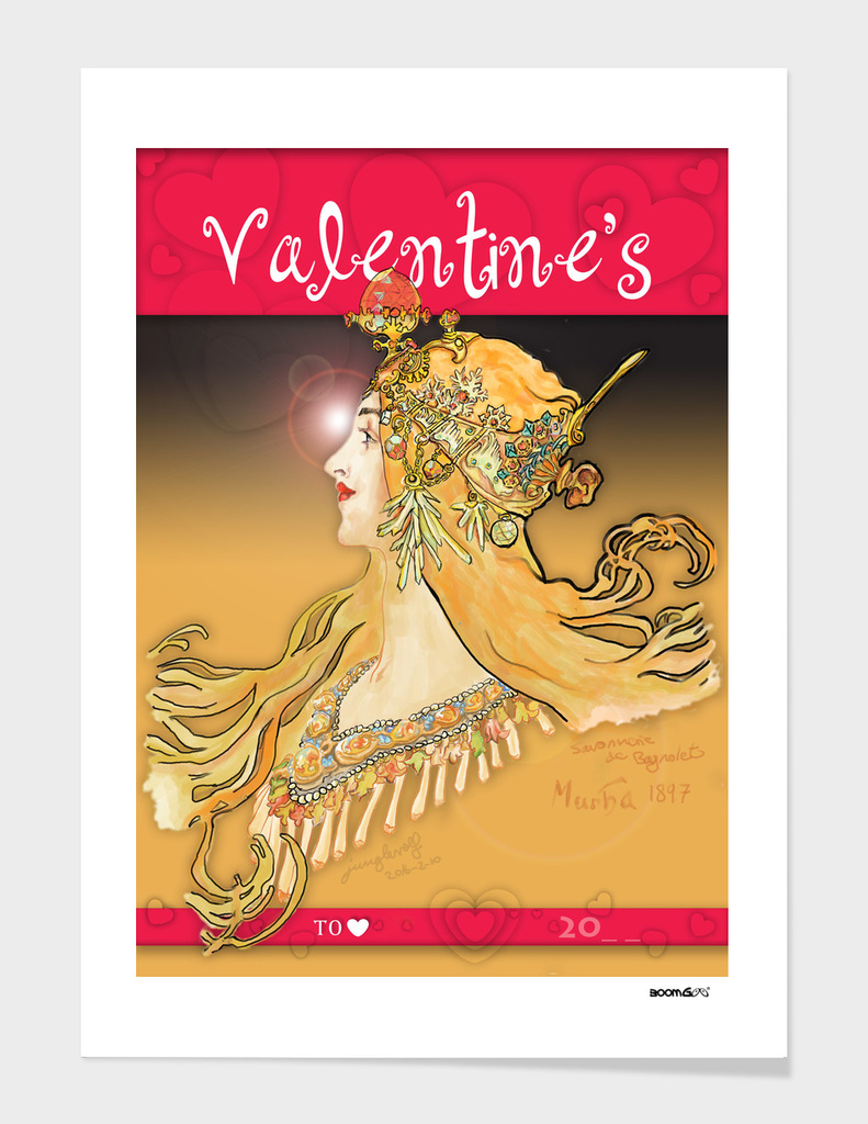 Mucha 1897 style savonnerie (postcard 9)