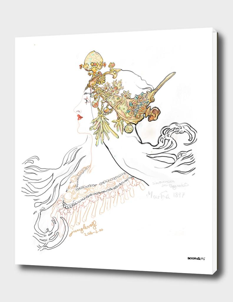 Mucha 1897 style savonnerie (poster 1b)