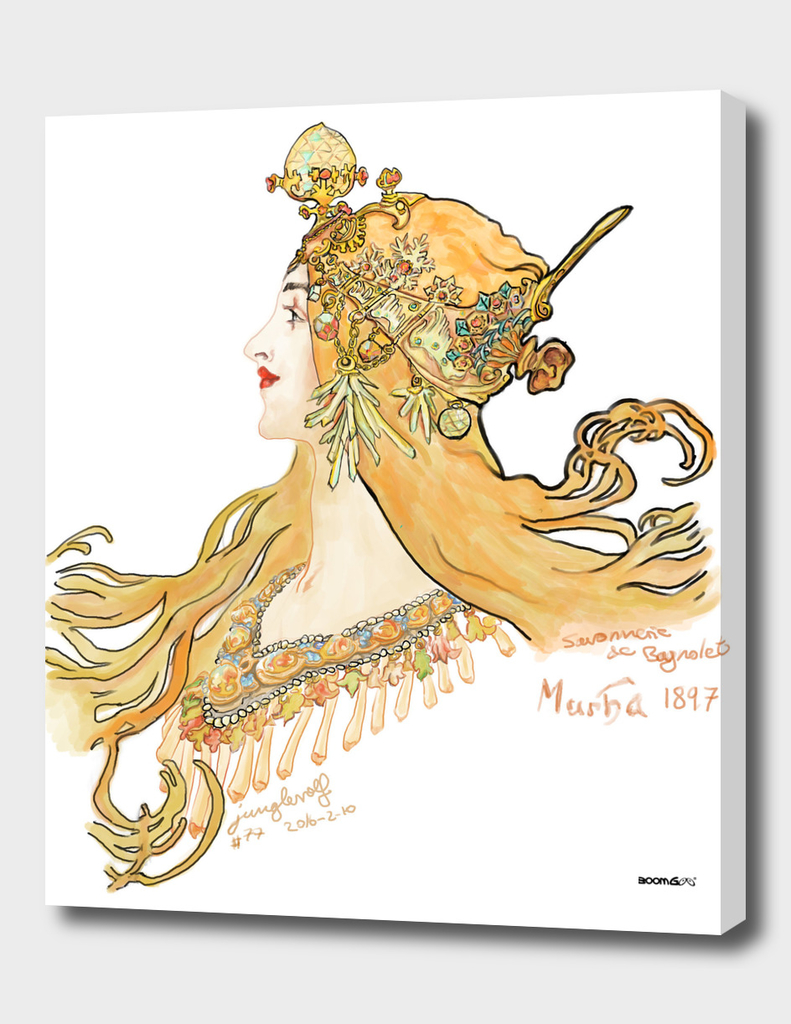 Mucha 1897 style savonnerie (poster 2)