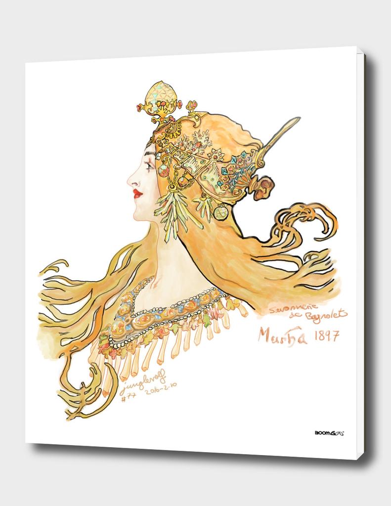 Mucha 1897 style savonnerie (poster 2)