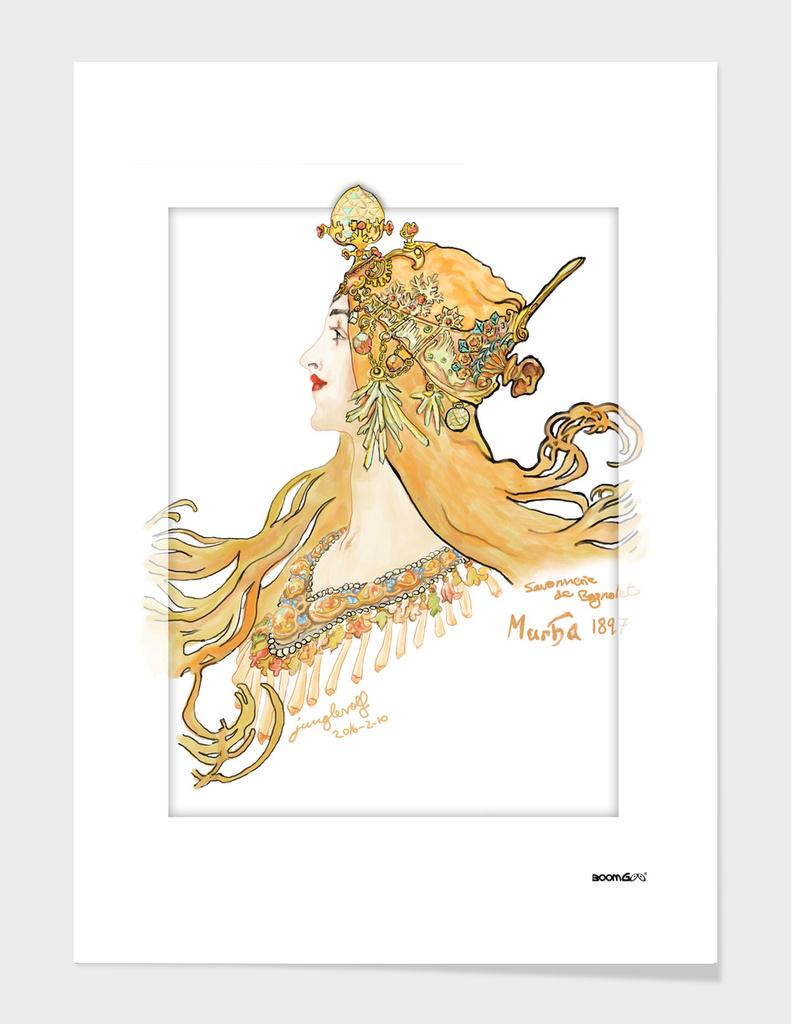 Mucha 1897 style savonnerie (poster 3)