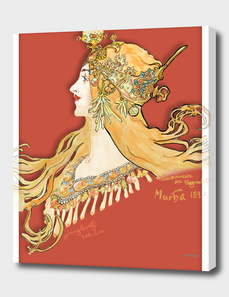 Mucha 1897 style savonnerie (poster 3c)