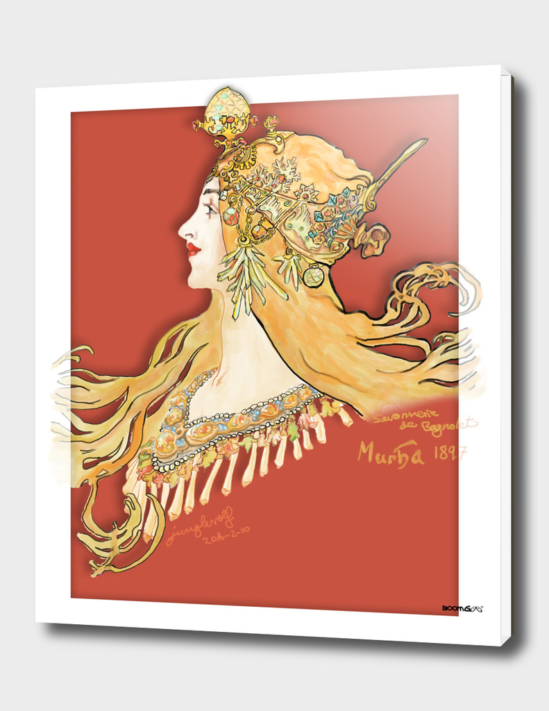 Mucha 1897 style savonnerie (poster 3c)