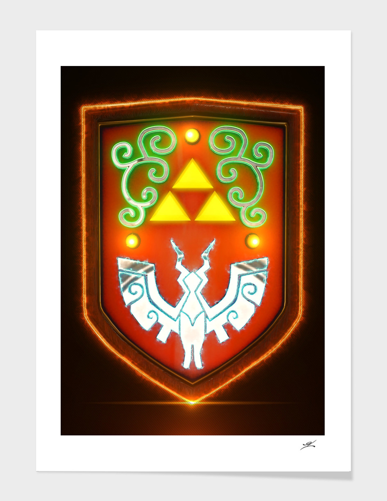 3D Hylian Shield Wind Waker