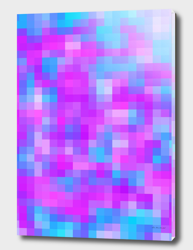 geometric square pattern pixel abstract in purple pink blue