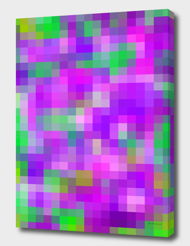 geometric square pattern pixel abstract in purple pink green