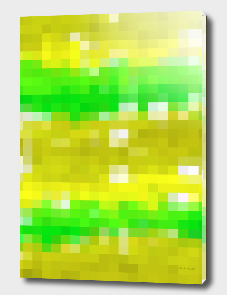geometric square pattern pixel abstract in yellow green