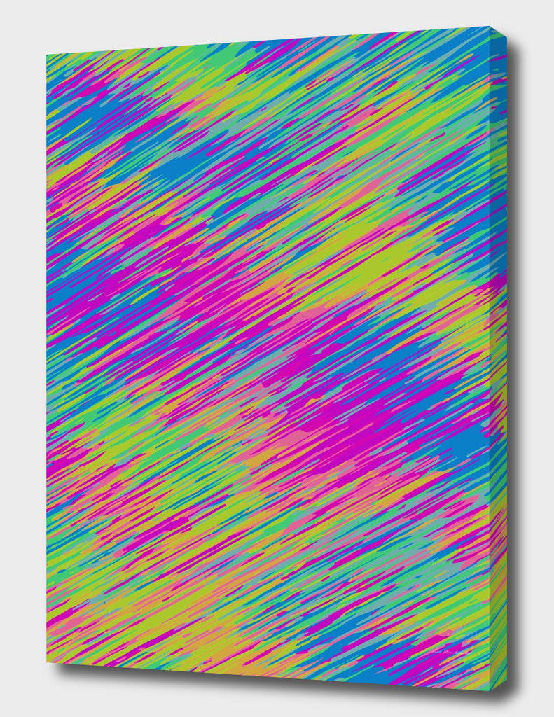 splash painting texture abstract in pink blue yellow green