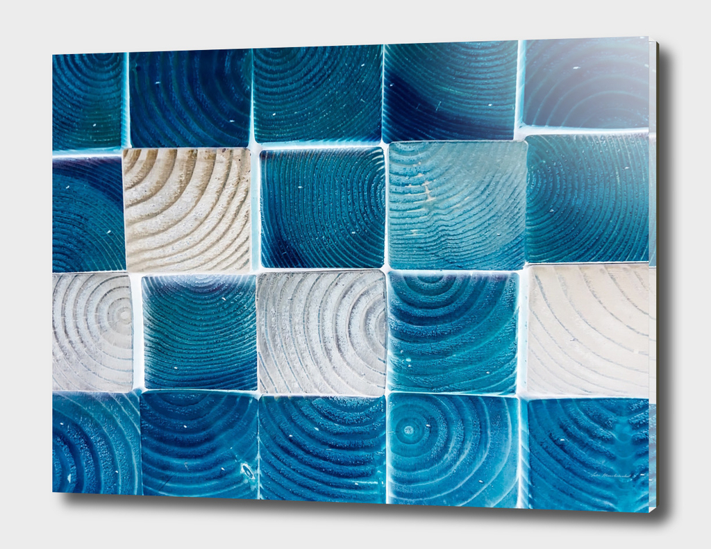 blue and white wood pattern