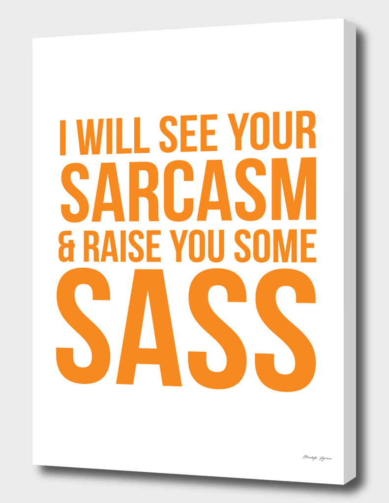 I Will See Your Sarcasim