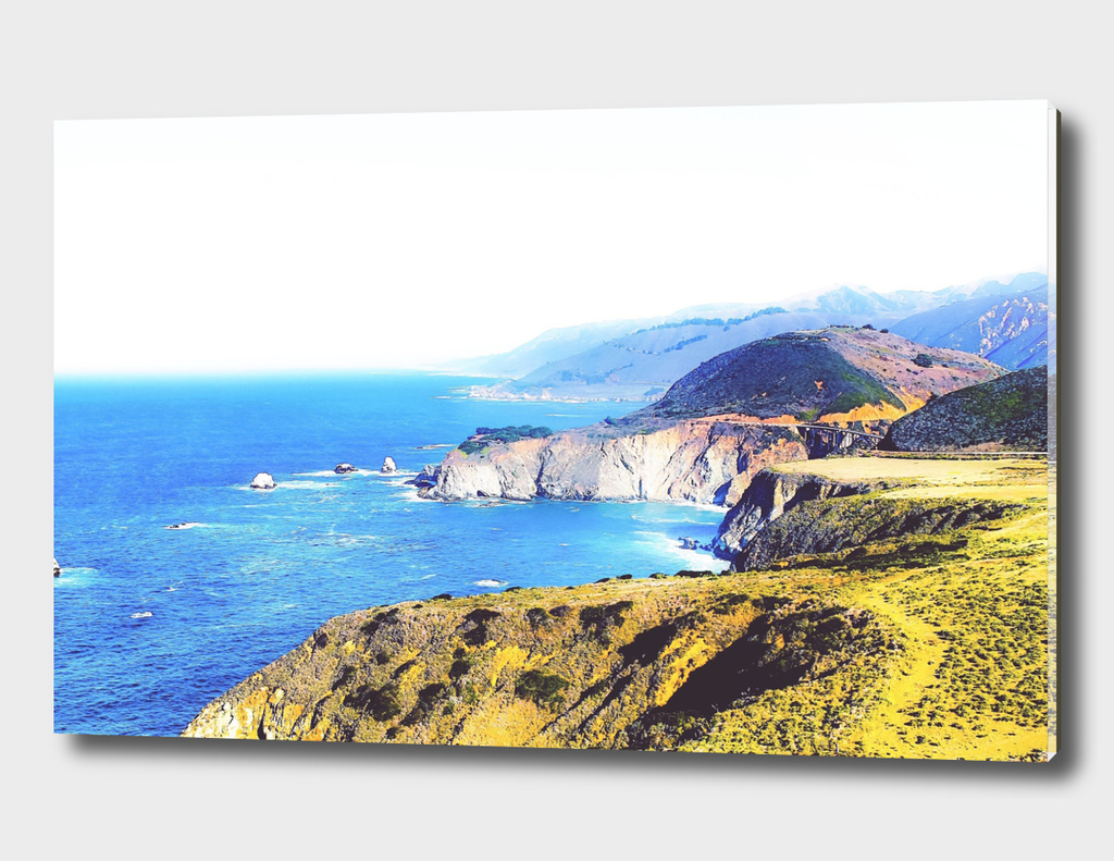 beautiful scenic at Big Sur, California, USA