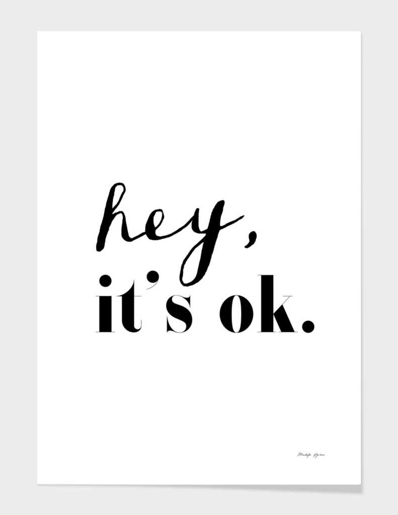 Hey it's ok.
