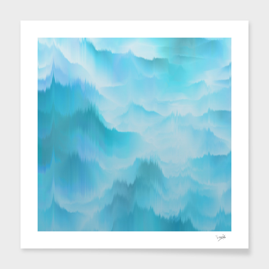 Clouds and mountains. Abstract.