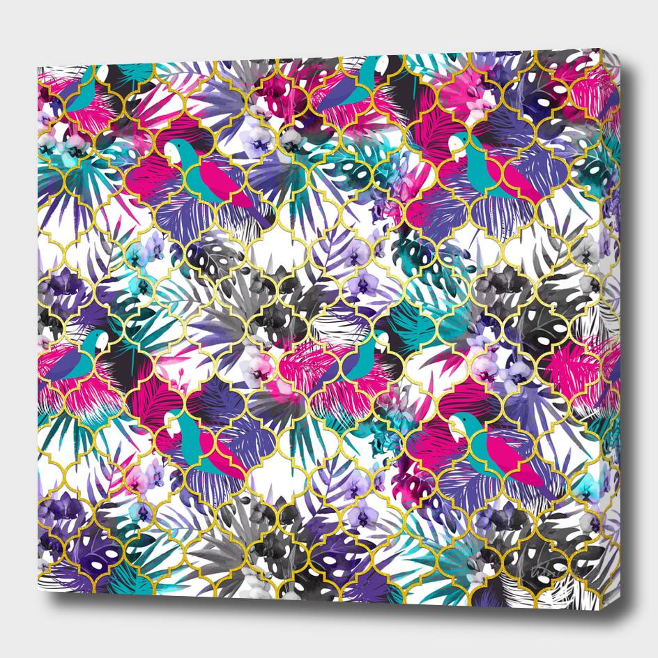 Tropical golden pattern