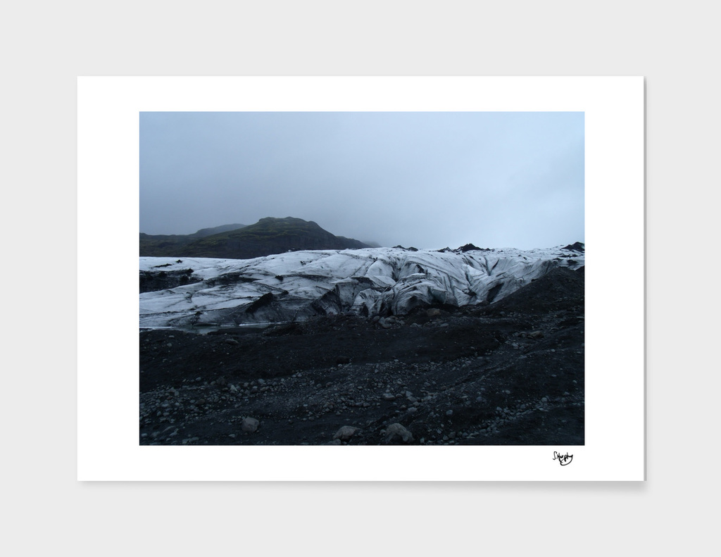 The Solheimajokull Glacier