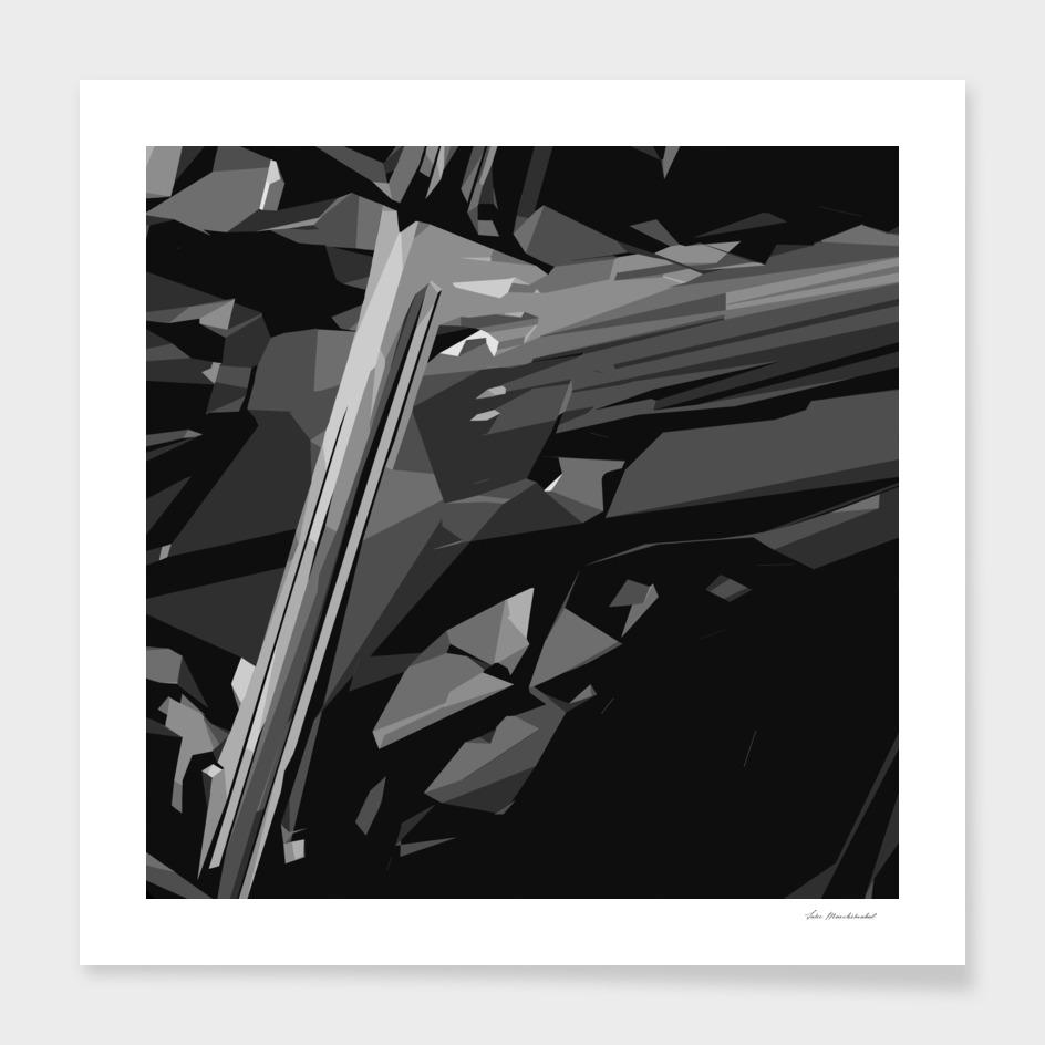 black and white geometric pattern background