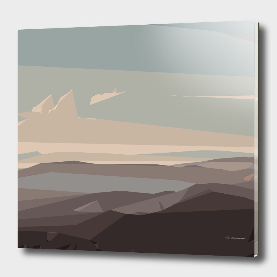 brown and blue landscape abstract background