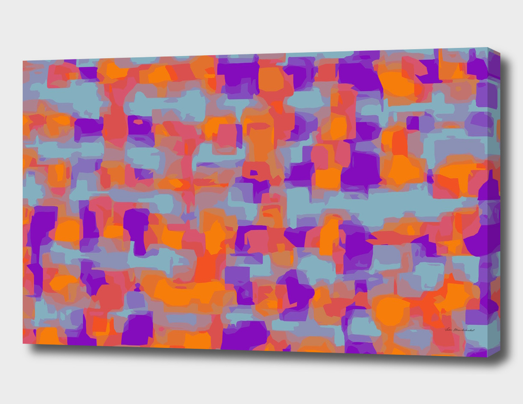 orange purple and blue abstract painting background