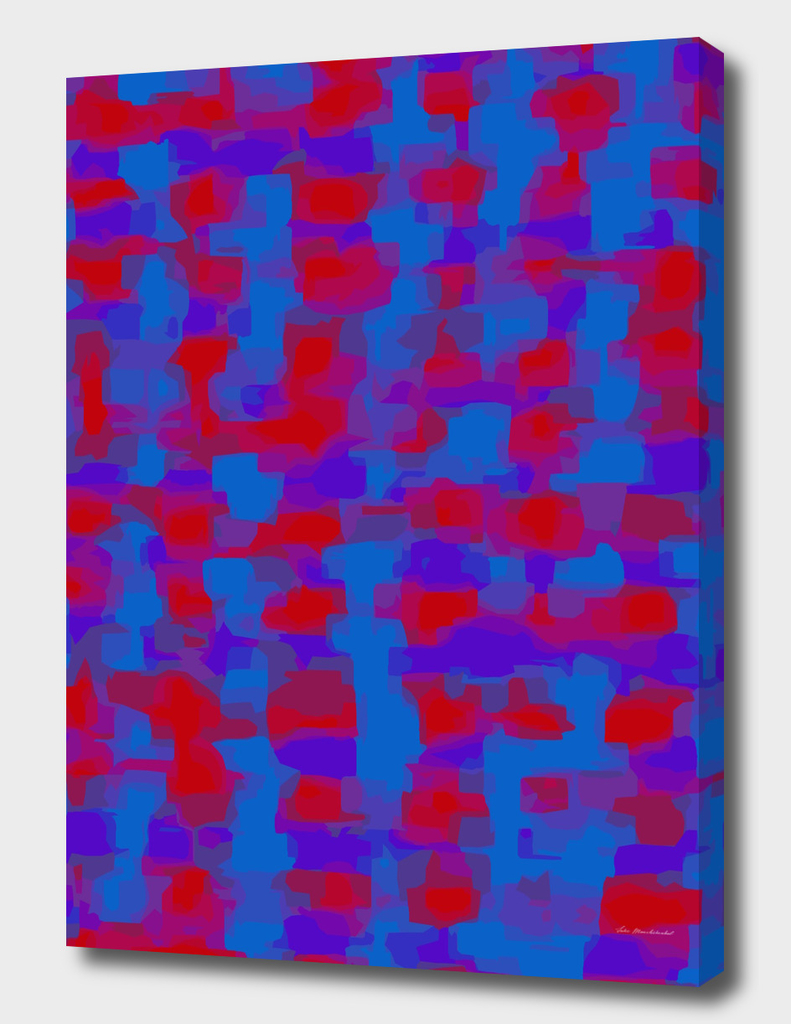 blue purple red painting abstract background