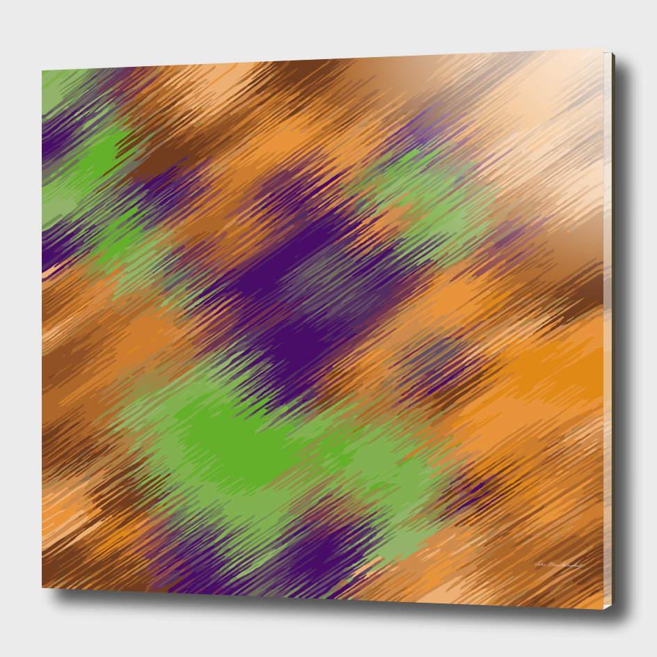 psychedelic geometric abstract in brown purple green