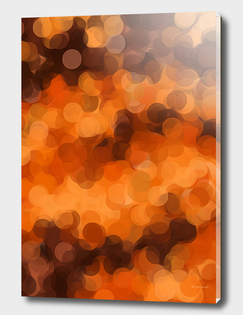 brown and dark brown circle pattern abstract background
