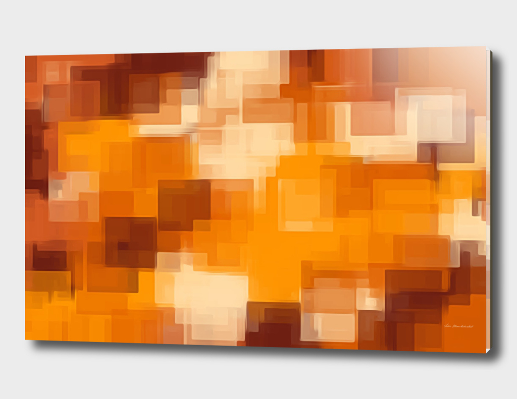 brown and orange square pattern abstract background