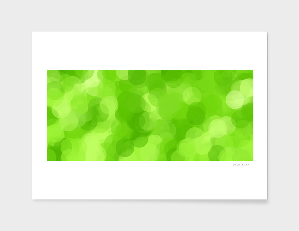 green circle pattern abstract background