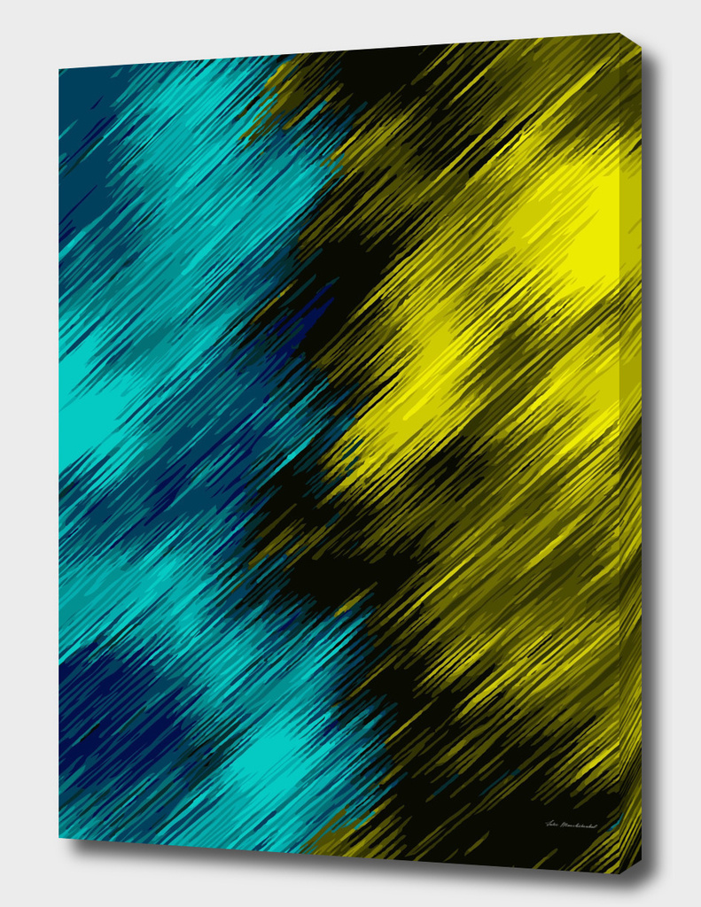 blue and yellow geometric painting texture abstract