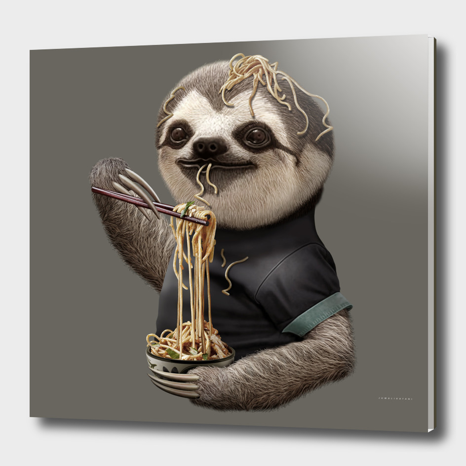 SLOTH EAT NOODLE