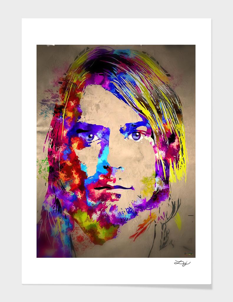 Kurt Cobain Painted